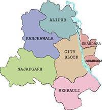 About Delhi Delhi Map